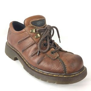 Dr Martens boot shoes oxford lace up brown